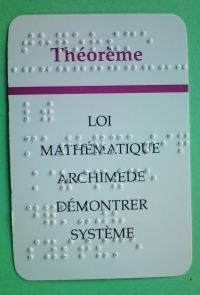 carte de Taboo en braille abrégé