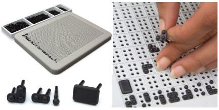 planche de jeu braille
