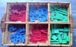 boîte pour ranger les pièces de Tetris