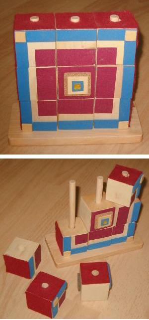 Cubes sur tiges