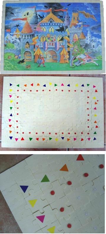 Puzzle avec indices au verso